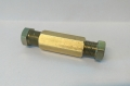 Verbinder 8 mm für Kupferleitung aus Messing